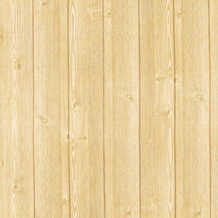 Decowall Hwp  Light Brown Wood Panel Self Adhesive Wallpaper Self