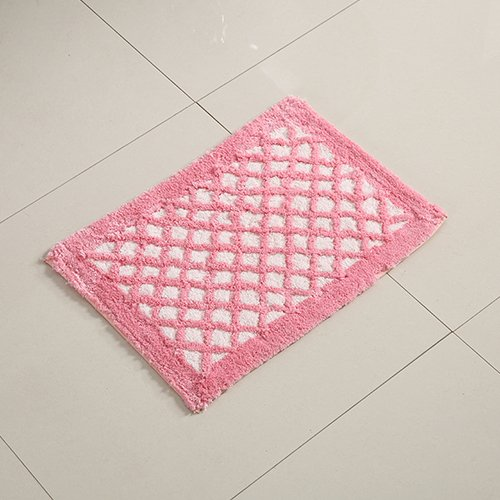 Bathroom mats door mats bedroom hallway absorbent mats anti-skid mats for bathroom and kitchen -3550cm Pink Plaid by ZYZX