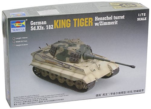 Trumpeter 1/72 German SdKfz 182 King Tiger Tank with Zimmerit (Henschel Turret)