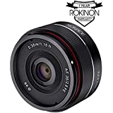 Rokinon IO35AF-E 35mm f/2.8 Ultra Compact Wide Angle Lens for Sony E Mount Full Frame, Black (Certified Refurbished)