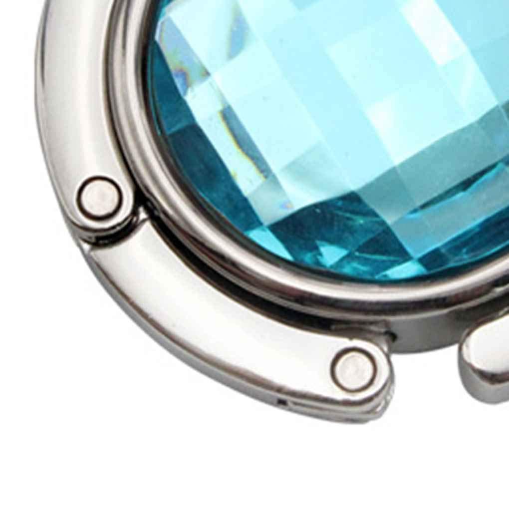 fish Facetas de Cristal Plegable del Monedero del Bolso del Gancho de la suspensi/ón de Boda para Mujer Tabla Cuelgue la Bolsa de Almacenamiento de Tabla de Colgar Titular