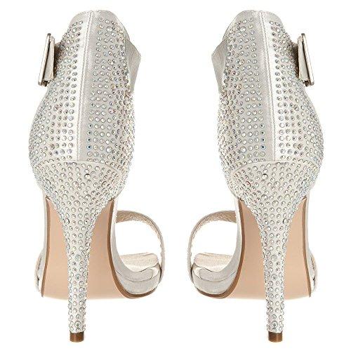 Hueso De Zapatos Marfil Diva Tacón Mujer Miss XqO6pw04