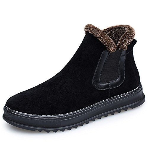 Men's casual Boots Men boots boots and shoes for cotton velvet warm shoes,39 black by ZRLsly
