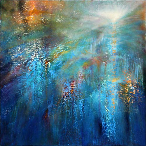 Posterlounge Alu Dibond 30 x 30 cm: Another Blue Morning di Annette Schmucker