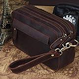 TIDING Leather Crossbody Shoulder Messenger Bag