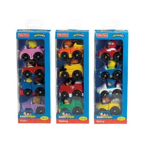 Fisher-Price Little People Wheelies 4 Pack Assortment