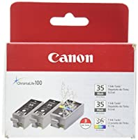 Canon PGI-35 Twin Black & CLI-36 Color Ink (1509B007AB/AE) from Canon