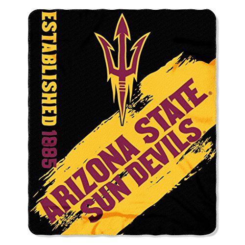 Devils Throw Blanket - Officially Licensed NCAA Arizona State Sun Devils Painted Printed Fleece Throw Blanket, 50