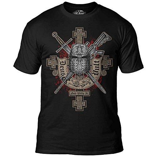 7.62 Design 'Deus Vult' Premium Men's T-Shirt,Black,XX-Large