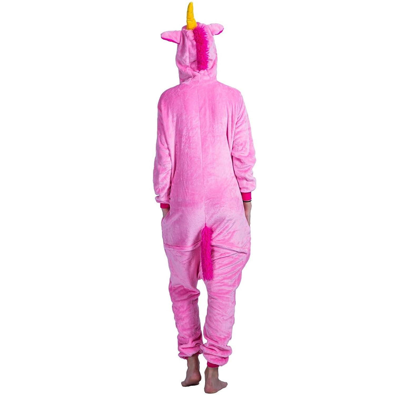 Amazon.com: EraSpooky Unisex Adult Flannel Animal Pajamas Pink Unicorn Cosplay Kigurumi: Clothing