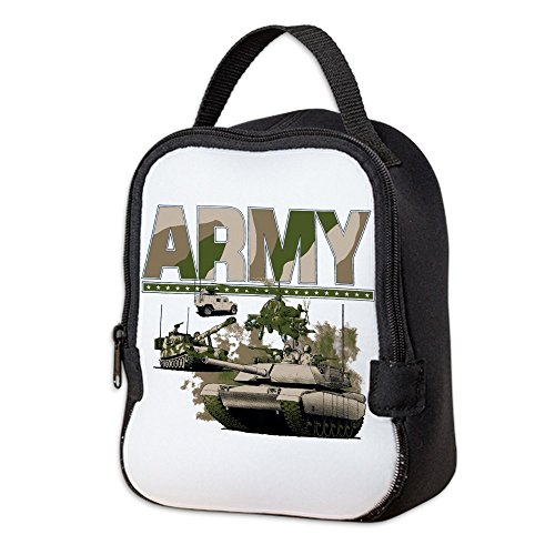 Neoprene Lunch Bag US Army Hummer Soldiers Tanks