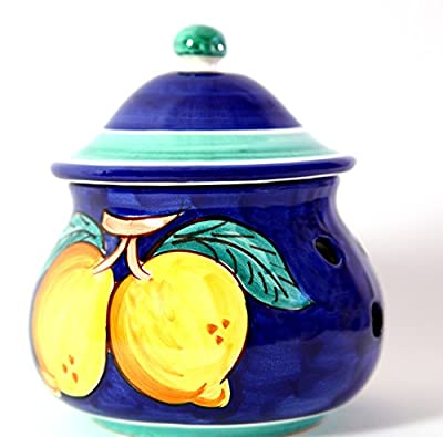Vietri Ceramic Garlic Keeper Handmade in Italy by Vietri Ceramic