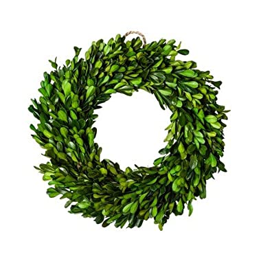 New Preserved Boxwood Leaves Wreath Green (11 )