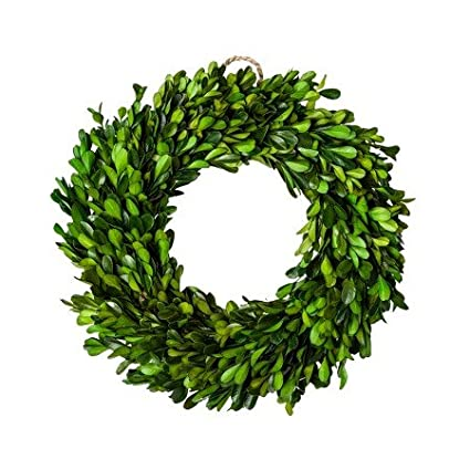 amazon com new preserved boxwood leaves wreath green 11 home