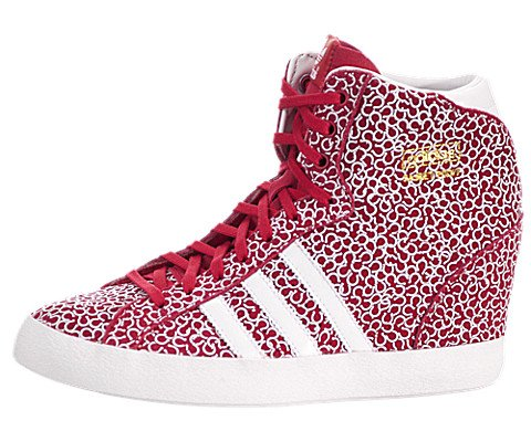 Adidas Women's Basket Profi Up W Originals Redbea/Runwht/Metgol Casual Shoe 7 Women US