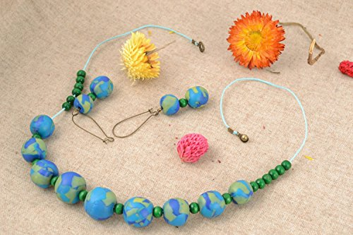 Homemade Polymer Clay Jewelry Set Planet Earth