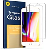 iPhone 8 Screen Protector, Caseology [Tempered Glass - Case Friendly] Ultra Slim HD Clear 9H Anti-Scratch Film for Apple iPhone 8 (2017) / iPhone 7 (2016) - 2 Pack