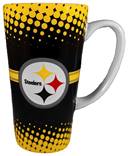 NFL Pittsburgh Steelers 16 oz Ceramic Latte Coffee (Nfl Pittsburgh Steelers Coffee Mug)