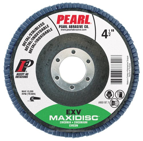 Pearl EXV 4-1/2' x 7/8' Zirconia 40GRIT - T27 Maxi Disc - MAX4540ZE Pearl Abrasive