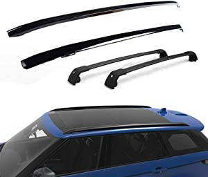 Lequer 4PCS Roof Racks Crossbars Kit Fits for Land Rover Range Rover Sport 2014-2019 Baggage Carriers Luggage Rail Side Bar Cross Bars-Black