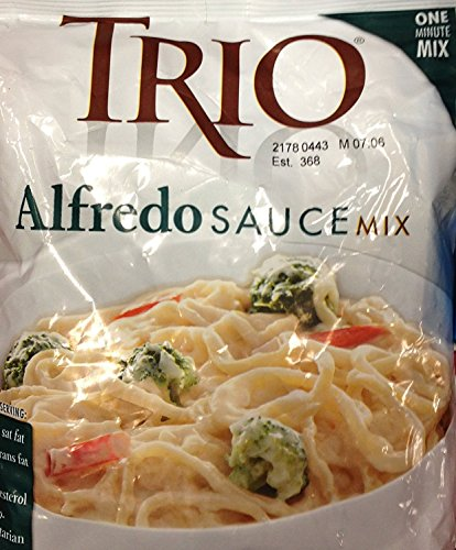 16oz Trio Alfredo Sauce Mix Powder Makes 2 Quarts + 1 Cup Alfredo Sauce Restaurant Quality Just Add Boiling Water One Minute Mix