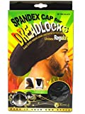 (PACK OF 6) King J DREADLOCKS WAVE CAP (BLACK)