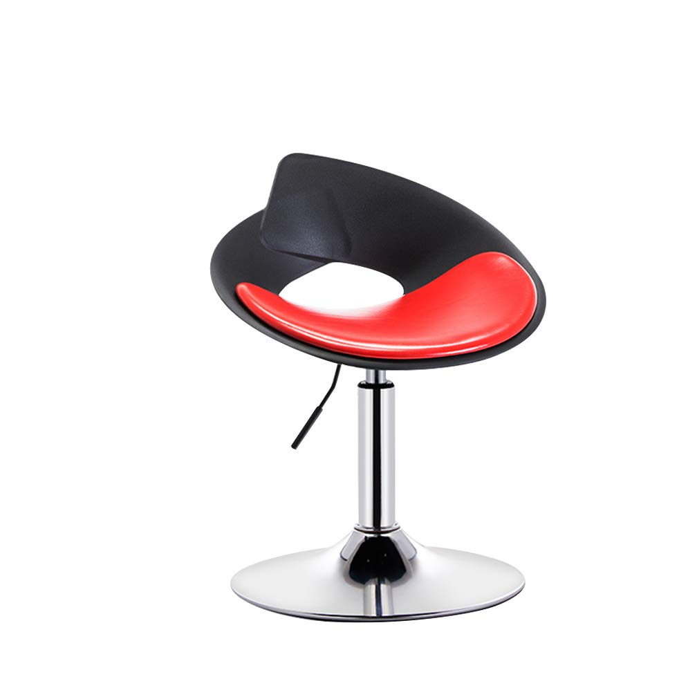 M Bar Chair High Foot Makeup Beauty Stool Leisure Swivel Front Desk Reception Seat Can Be Lifted Non-Slip for Coffee Shop (color   D)