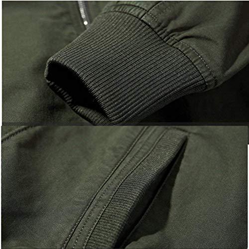 Hombres Clásico HX De Ocio Alta Cuello Ropa Al Abrigo Abrigo fashion Aire Schwarz Mandarín De Cómodos Libre Bomber Chaquetas Mens Prendas Clásico Otoño Calidad Ntel De Tamaños rIIqOpxw