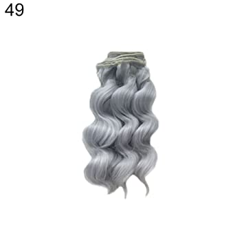 SUPVOX 12Pcs Doll Hair Straight Smooth Synthetic Doll Wigs Soft Handcraft Hair Wefts for Kids Girls Doll Making