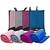 Bodi Towel Quick-Dry Lightweight Super-Absorbent Large Microfiber Towel, Purple, 130cm x 80cm