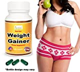 Ayurleaf Weight Gainer - Ladies Weight Gain Formula. Gain weight pills for women. Helps skinny Women gain voluptuous curves. Legs, Butt & Bust Butt Enhancer. Fast Weight for women. (1) Bottle