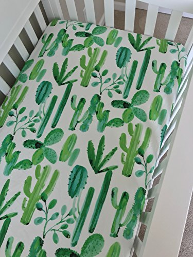 Crib Sheet - Watercolor Cactus by Lullabies and Lollipops