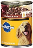 Pedigree Choice Cuts in Gravy with Beef and Rice for Food for Adult Dogs, 13.2-Ounce Cans (Pack of 24), My Pet Supplies