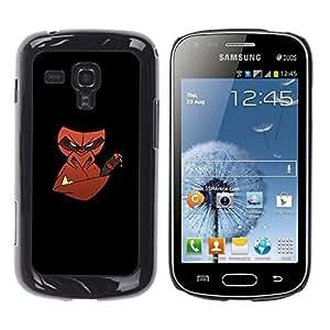 // PHONE CASE GIFT // Duro Estuche protector PC Cáscara Plástico Carcasa Funda Hard Protective Case for Samsung Galaxy S Duos S7562 / Mal cigarro mono /