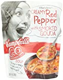 Campbell's Go Soup, Creamy Red Pepper with Smoked Gouda, 14-Ounce Microwavable Pouch