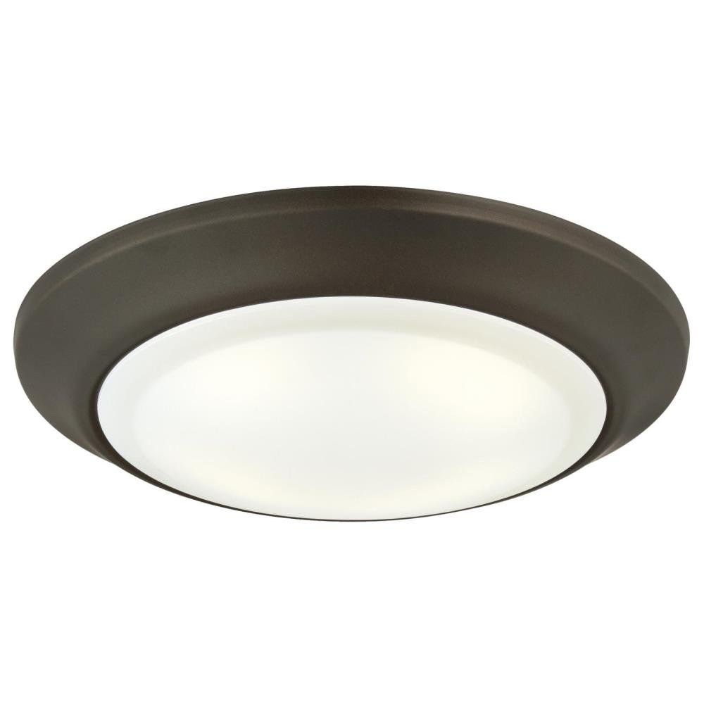 Westinghouse Lighting 6322800 Large LED Indoor/Outdoor Dimmable Surface Mount Wet Location, Oil Rubbed Bronze Finish with Frosted Lens