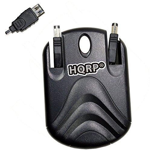 HQRP Retractable Flat FireWire iLink Cable for Sony VAIO VGN-SZ6RXN/C, VGN-SZ6RVN/X, VGC-LA3R, VGN-AR190G Laptop plus HQRP (Vaio Cables)