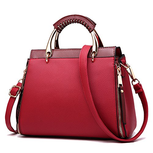 Crossbody Bag Pu Women Fashion Personality Bag Burgundy