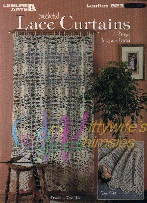 Crocheted Lace Curtains (Leisure Arts # 923 crochet patterns)