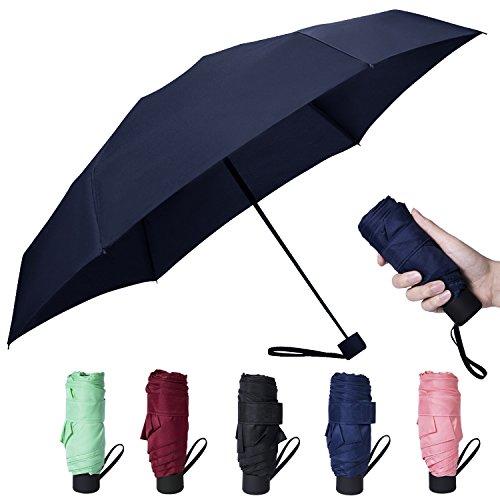 Amandir Mini Compact Outdoor Sun & Rain Umbrella Golf Womens Parasol Umbrella