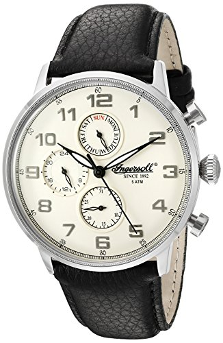 Ingersoll Men's INQ 037 CMSL Eaton Analog Display Japanese Quartz Black Watch