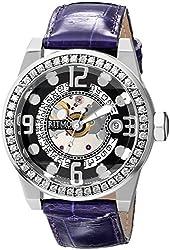 Ritmo Mundo Women's D251/1 Black Diamond Pantheon Exhibition Case Automatic Watch