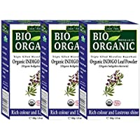 Indus Valley Bio Organic Natural Hair Coloring Indigo Powder Set Of 3