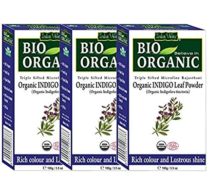 Buy Indus Valley Bio Organic Natural Hair Coloring Indigo Powder Set