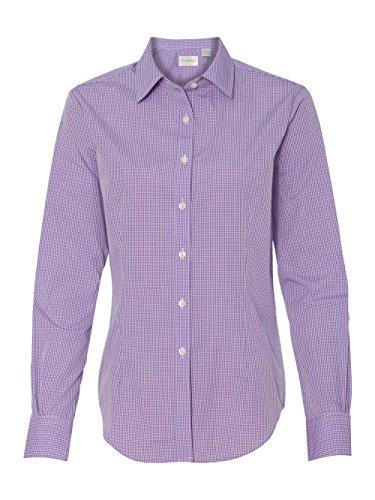 Van Heusen 13V0226 Women's Gingham Check Shirt Amethyst Medium - Gingham Check Shirt