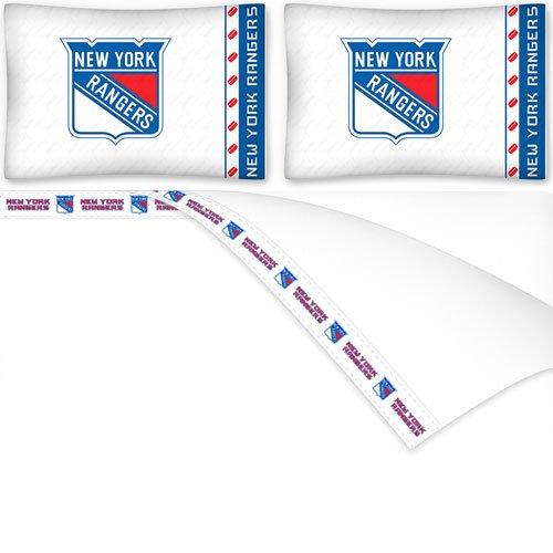 NHL New York Rangers Micro Fiber Sheet Set (Queen)