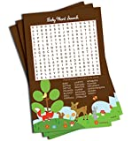 Word Find Search - Baby Shower Game - Woodlands Theme (50-sheets)