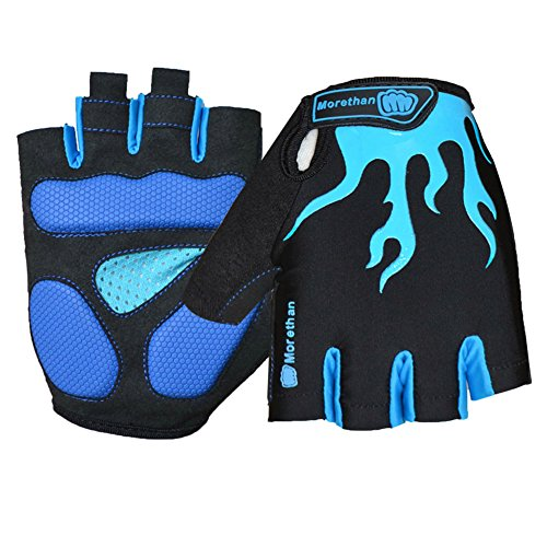 OKSPORT Cycling Gloves Mountain Bike Road Gloves With Gel Pad Shock-absorbing Breathable Bicycle Motorcycle Racing Half Finger Fingerless Gloves For Men/Women Blue M