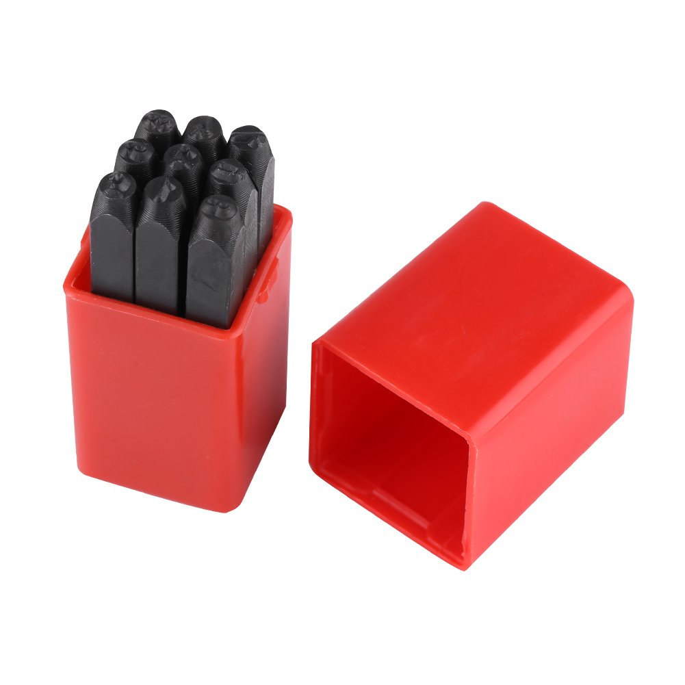 Poin/çons Alphabet//Chiffres Jeu de Poin/çons en Acier au Carbone 3mm Tampon Poin/çons pour Marquage de M/étal Bijoux Maroquinerie Bois letter
