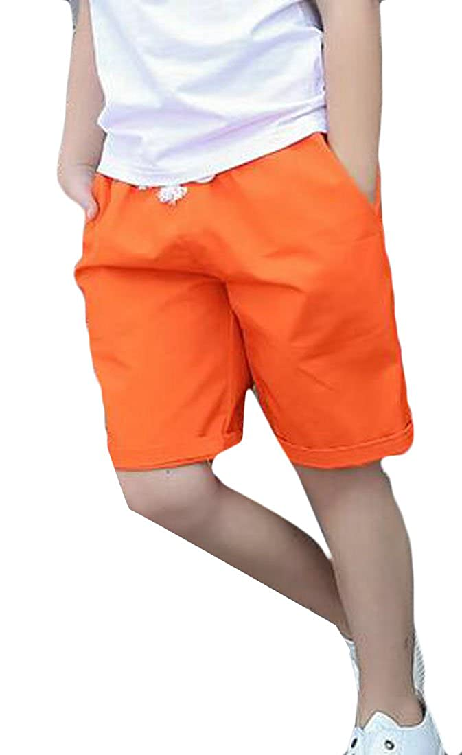 goldenharvest GH Boys Cotton Pure Color Baggy Comfort Sports Summer Open Bottom Shorts